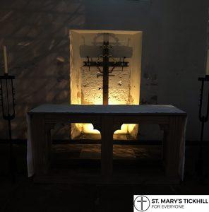 St. Helen's Chapel at night